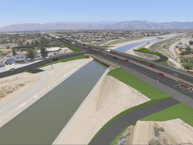 Ranchero Road Safety, Mobility, and Economic Opportunity Expansion Project Rendering